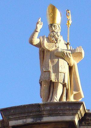 Statue de Saint Blaise Saint Patron de Dubrovnik