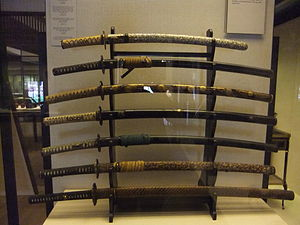 Various samurai swords. Photo taken at the Vic...