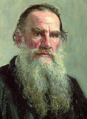 Portrait of Lev Nikolayevich Tolstoy. Oil on c...