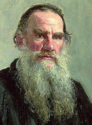 Portrait of Lev Nikolayevich Tolstoy. Oil on c...