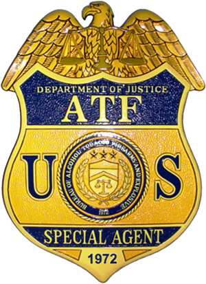 English: Badge of the Bureau of Alcohol, Tobac...