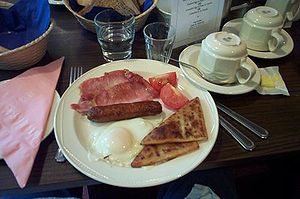 An Ulster fry, served in Belfast, Northern Ire...