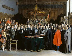 Westfaelischer Friede in Muenster (Gerard Terborch 1648).jpg