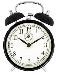 2010-07-20 Black windup alarm clock face