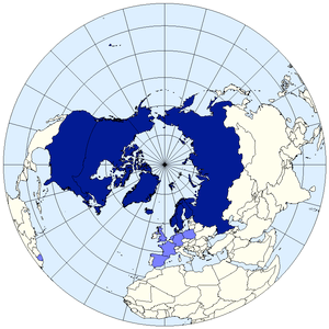 English: Arctic Council members map