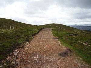 "Bulldozed road, Tarmach Cairn. No ""Tarmac..."