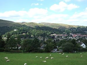 English: The town of Church Stretton, in Shrop...