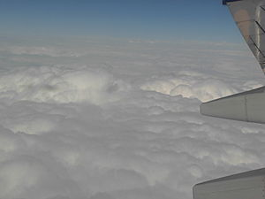English: Clouds as seen from an aircraft