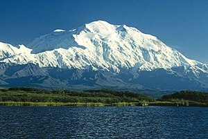 Mount McKinley, or Denali, in Alaska is the hi...