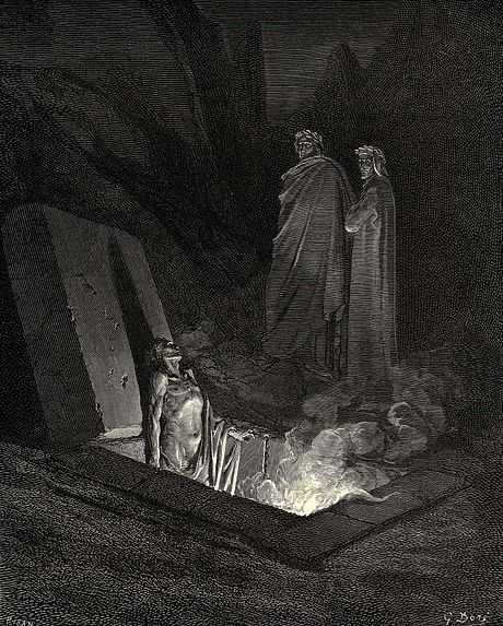 דורה מצייר את הגיהנום של דאנטה