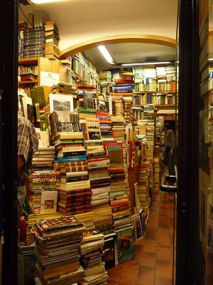 Bookstore in Florence, Italy