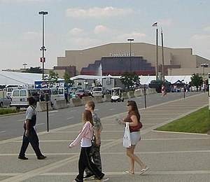 Picture of the outside of Freedom Hall, locate...