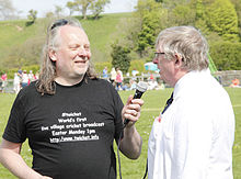 John Popham & Umpire John Marshall at #twicket