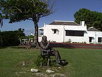 Statute of Noël Coward in front of Firefly - photo from Wikipedia
