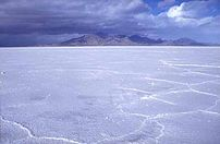 The Bonneville Salt Flats.