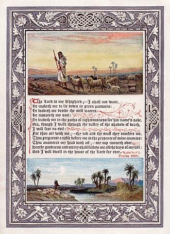 English: An image of Psalm 23 (King James' Ver...