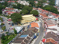 Aerial view of the Bukit Timah portion of Holland Village