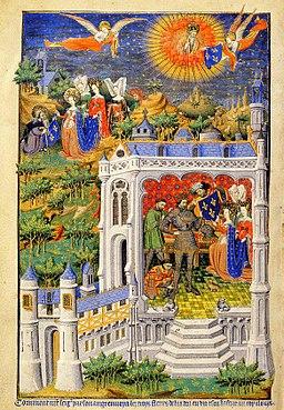 Clovis recevant la fleur de lys - XVe siècle