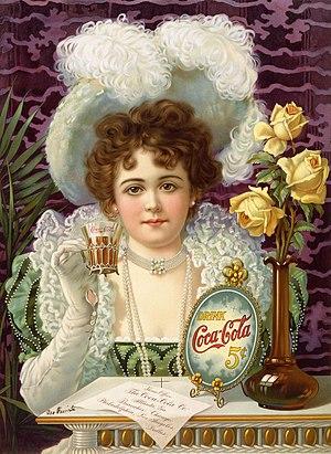 An 1890s advertisement showing model Hilda Cla...