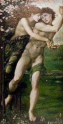 Edward Burne-Jones - Phyllis and Demophoon - Google Art Project