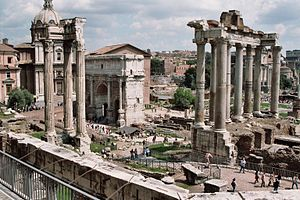 The Roman Forum, the political, economic, cult...