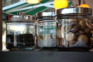 Glass cookie jars,