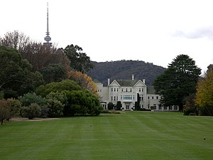 Government House, Canberra. From the lookout o...