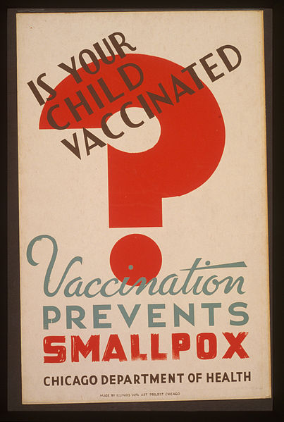 File:Is your child vaccinated Vaccination prevents smallpox.jpg