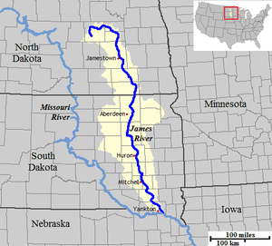 Map from the confederate engineer bureau in richmond, va. James River Dakotas Wikipedia