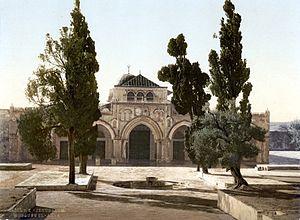Jerusalem Al Aqsa Moschee um 1900