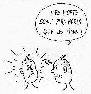 Français : La concurrence des victimes, illust...