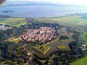 Aerial view of Naarden
