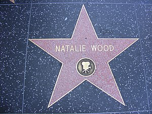 Natalie Wood's star on the Hollywood Walk of Fame