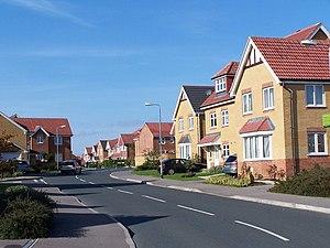 English: New housing development, Sylvan Drive...