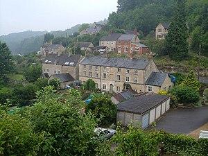English: Ruscombe. Tucked into a narrow valley...