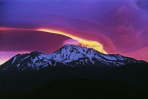 Sunrise on Mount Shasta.