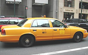 Photo of New York City cab. Cropped and enhanc...