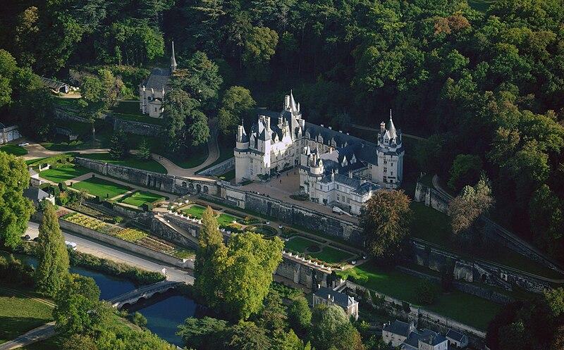 Ussé castle, aerial view