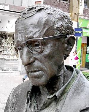 Close up of Allen's statue in Oviedo (Asturias...