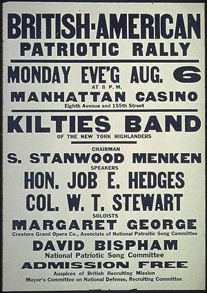 """British- American Patriotic Rally...&quo..."