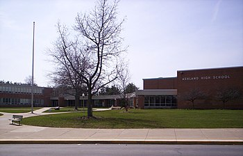 A view of Ashland High School in Ashland, Ohio.