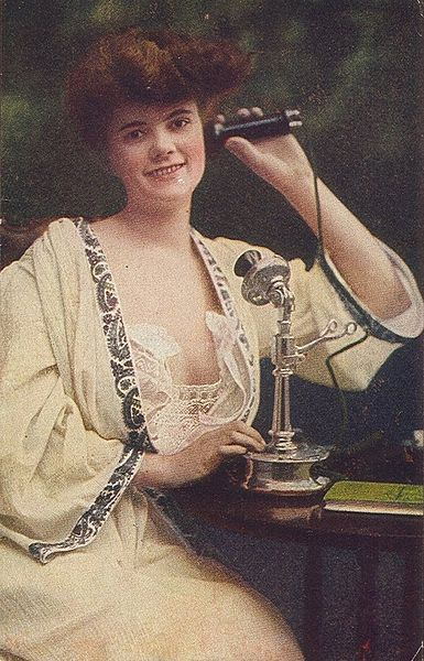 Woman on Candlestick Phone