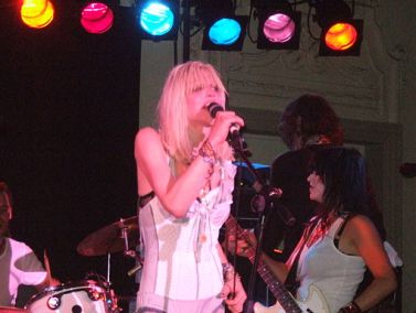 Courtney Love on stage