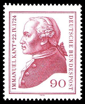 stamp for 250 years of birth of Immanuel Kant ...