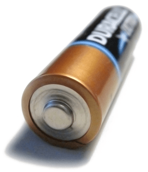 Electric batterie brand Duracell.