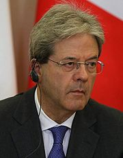 Paolo Gentiloni during a press conference in May 2017.