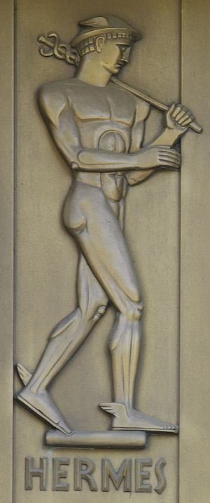 Hermes, sculpted bronze figure by Lee Lawrie. ...
