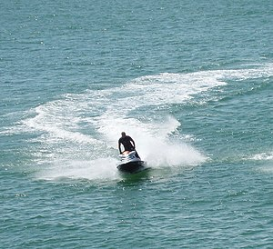 English: Jet ski near Palace Pier, Brighton So...