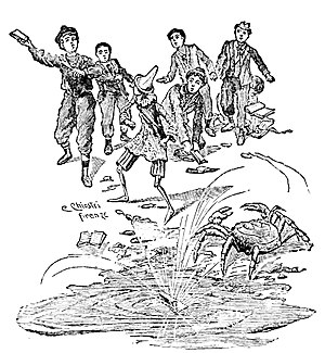 "Illustrations from ""Le avventure di Pinoc..."