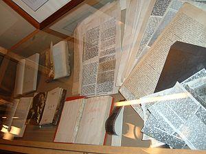 Samizdat copies of Nabokov's works on display ...